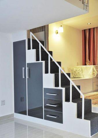 文艺现代灰色楼梯装饰图片