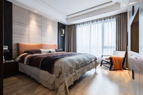卧室灰色窗帘装饰实景图