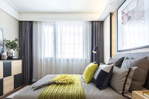 创意卧室窗帘平面图