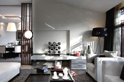 高贵风雅混搭白色背景墙室内装修图片