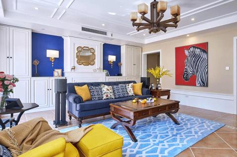 美式客厅吊顶案例图片