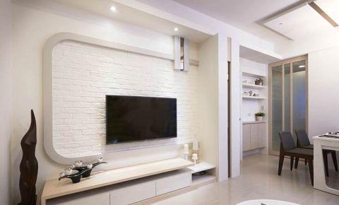 2018现代简约客厅装修设计 2018现代简约电视柜装修效果图片