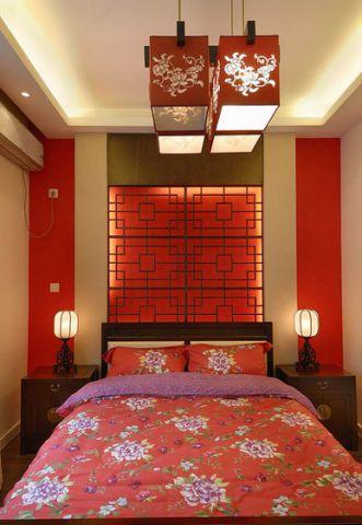 朴素温馨卧室中式装潢设计图片