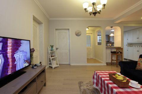 客厅咖啡色电视柜设计图欣赏