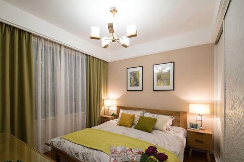 雅致绿色卧室装潢实景图