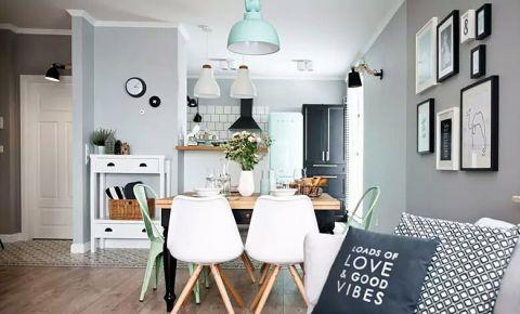 低调优雅原木色餐桌装潢实景图片