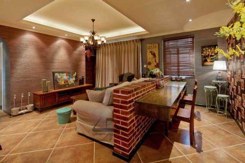 奢华客厅吊顶装饰实景图