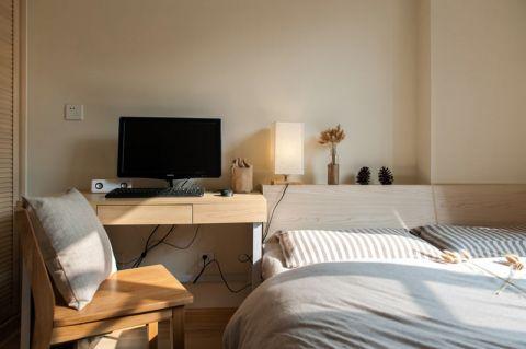 卧室书桌日式装潢实景图片