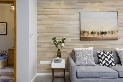 低调优雅背景墙室内效果图