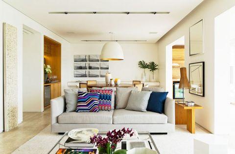 朴素温馨客厅装潢实景图片