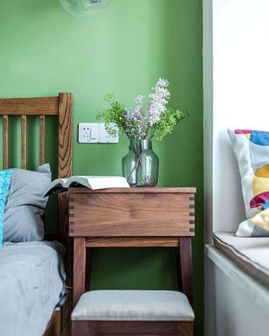 卧室咖啡色床头柜装修效果图大全