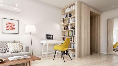 2018简约客厅装修设计 2018简约书架装修图