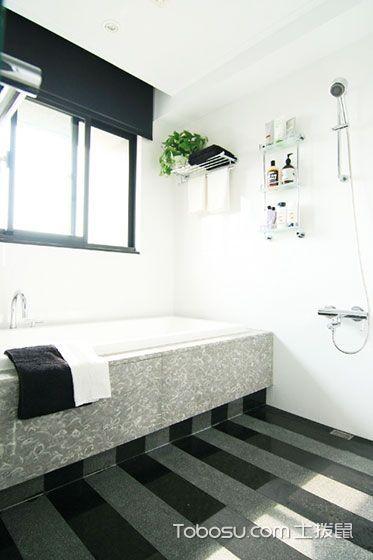 2018简约浴室设计图片 2018简约浴缸装修效果图大全