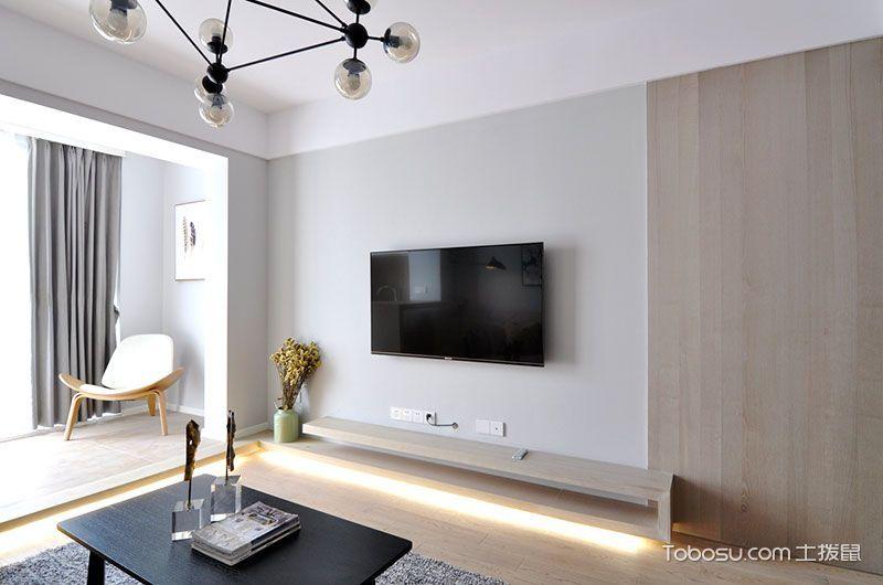 2018简约客厅装修设计 2018简约电视背景墙装修设计图片
