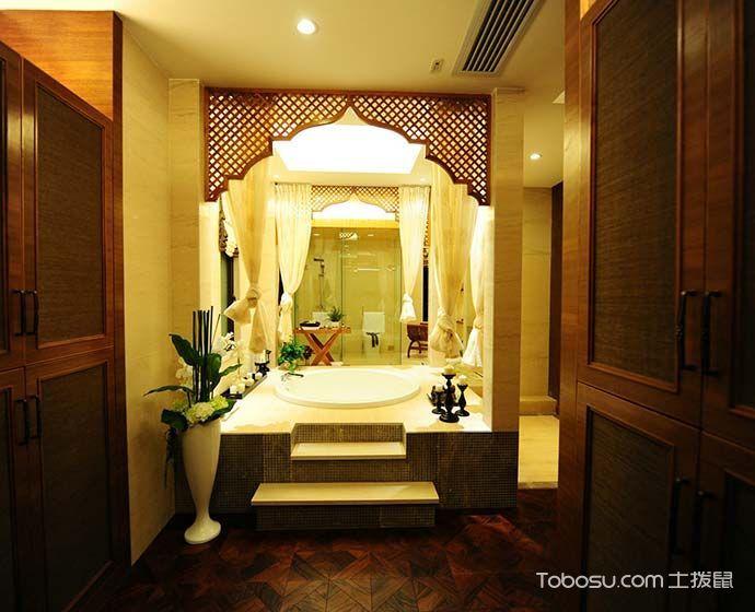 2018东南亚浴室设计图片 2018东南亚浴缸装修效果图大全