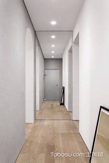 2019现代简约卧室装修设计图片 2019现代简约过道装修效果图大全