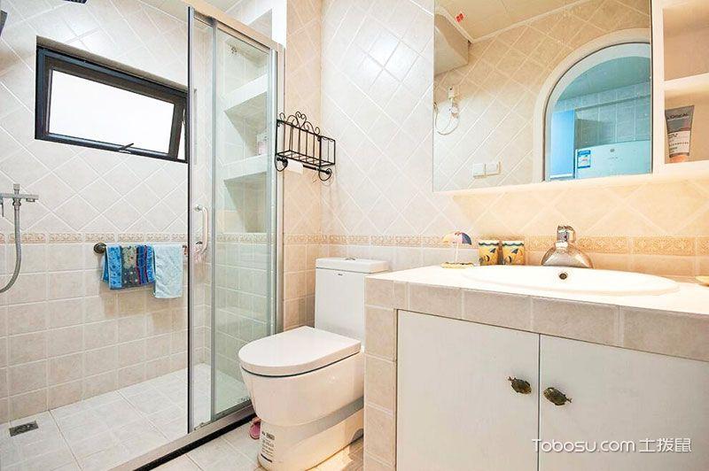 2018地中海浴室设计图片 2018地中海推拉门装饰设计