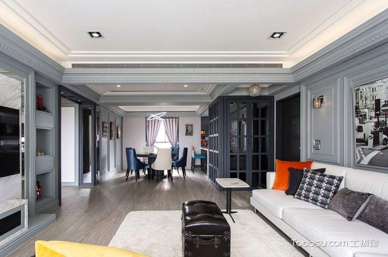 2019美式客厅装修设计 2019美式过道图片