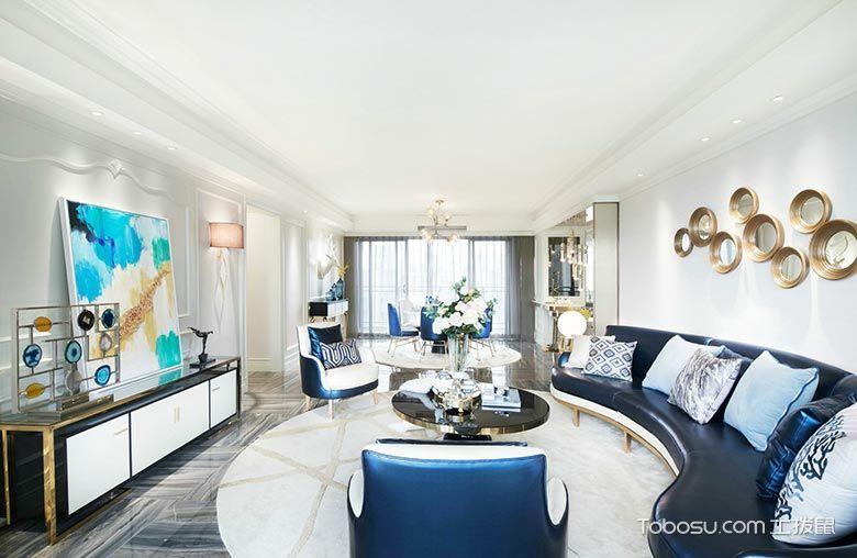 二居室123平米现代简约风格装潢设计图片