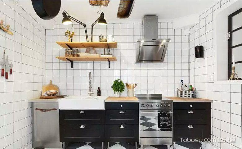 厨房黑色橱柜混搭风格效果图