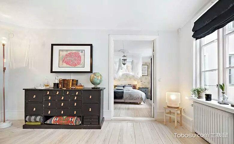 卧室米色地砖混搭风格装饰效果图