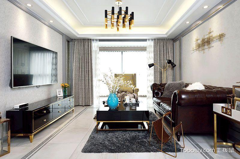 2021欧式150平米效果图 2021欧式二居室装修设计