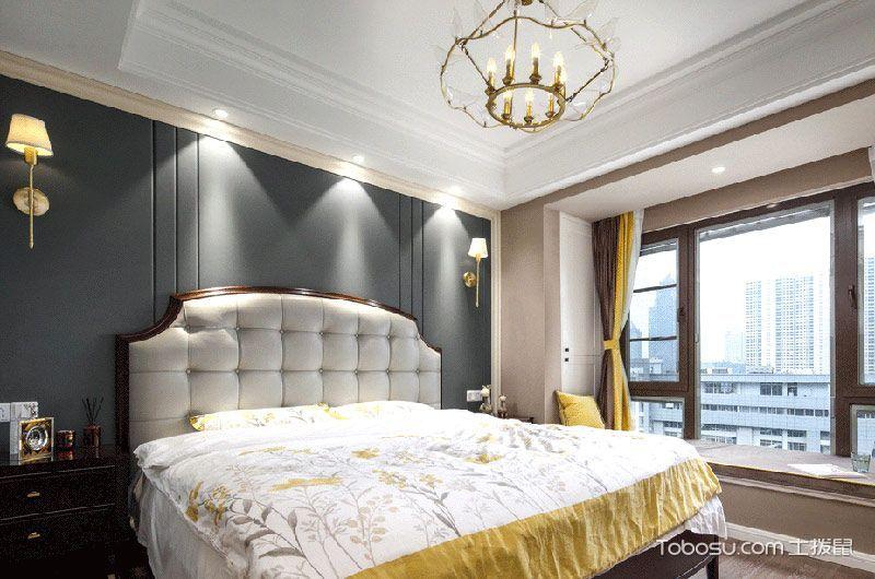 2019美式卧室装修设计图片 2019美式吊顶效果图