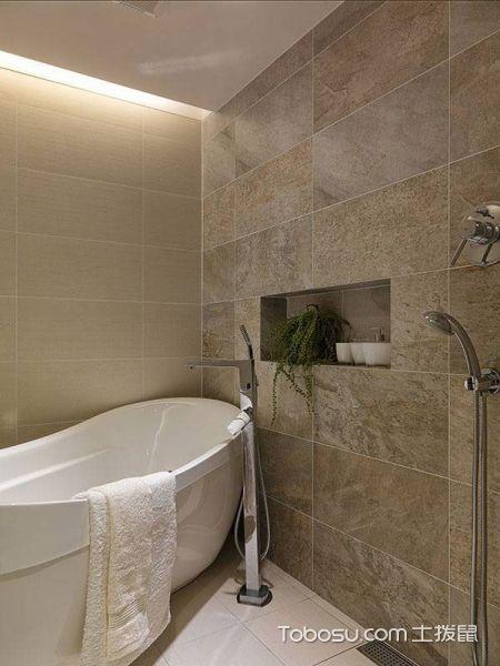 2018北欧浴室设计图片 2018北欧浴缸装修效果图大全