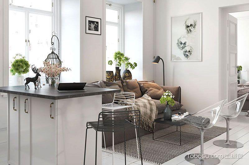 公寓75平米现代风格设计图