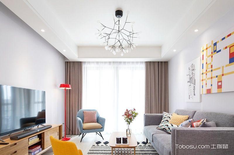 简约风格套房80平米家装设计