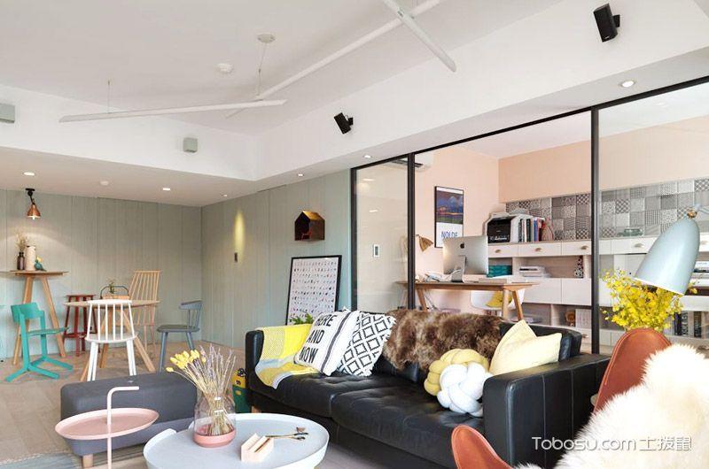 北欧风格小户型87平米家装设计图