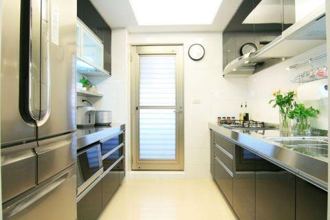 简约厨房不锈钢橱柜装潢设计图片