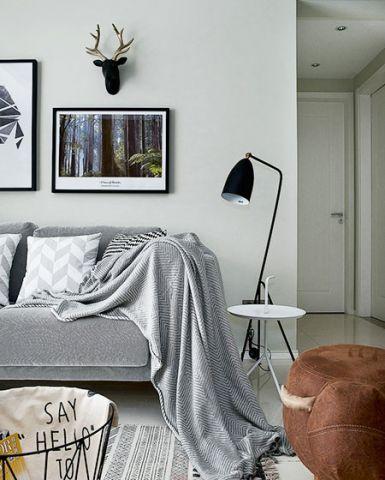 现代简约客厅隐形门装修图片