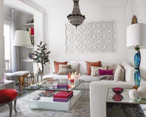 清新客厅沙发装潢图