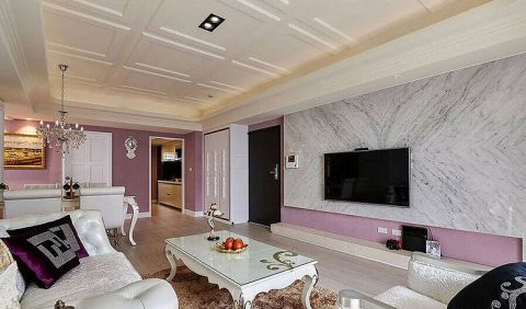 120平米三居室欧式风格装修实景图