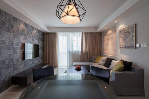 87平米二居室简约风格装修案例