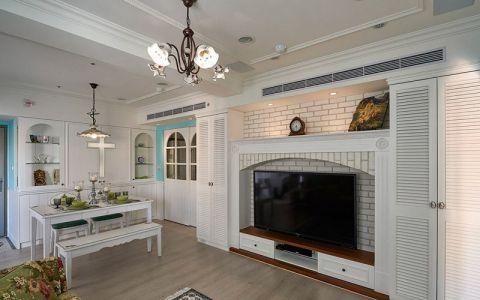 赏心悦目白色电视柜室内装修设计