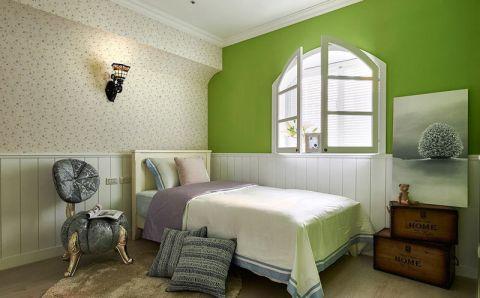 卧室米色床设计图片