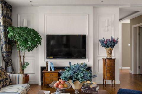 2019古典客厅装修设计 2019古典电视背景墙装修设计图片