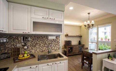 简洁灰色厨房装潢实景图