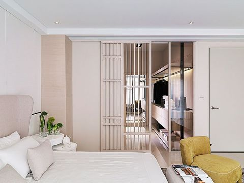 2019现代卧室装修设计图片 2019现代推拉门装修图片