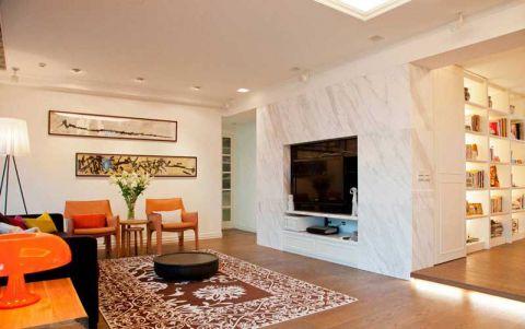 客厅黑色沙发装饰实景图