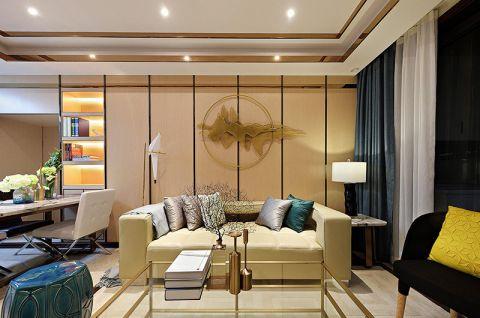 现代简约风格二居室115平米装修案例效果图