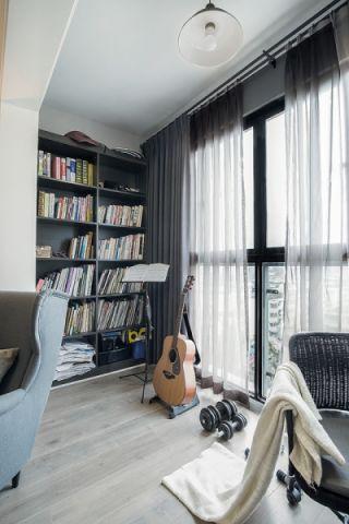 浪漫阳台窗帘室内效果图