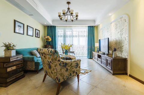 小巧玲珑蓝色客厅装修设计图片