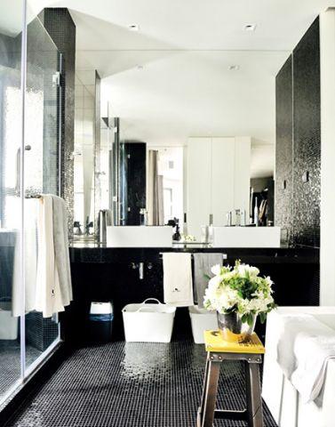 卫生间洗漱台混搭装饰设计图片