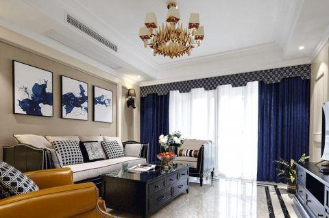 美式客厅沙发装修案例图片