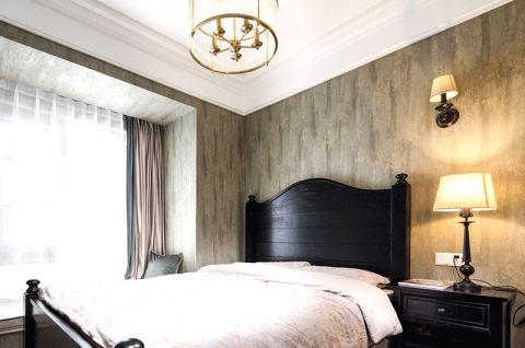 卧室黑色床装修案例图片
