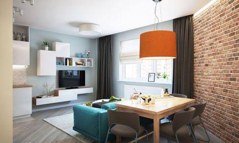美观大方混搭原木色餐桌装修实景图片