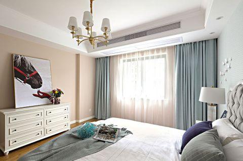 美轮美奂淡蓝色卧室装修实景图